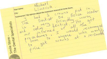 Michael limerick testiominal