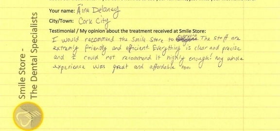 Aine Delaney Reviews Smile Store
