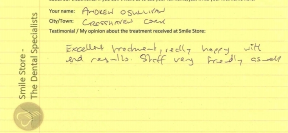 Andrew O'Sullivan Reviews Smile Store in Togher, Cork City