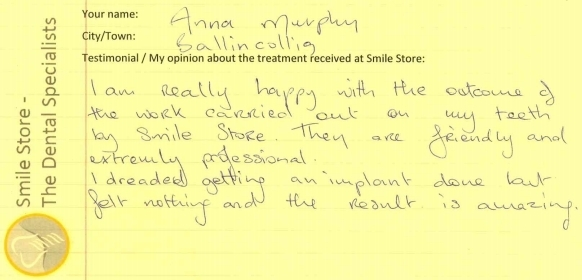 Anna Murphy Reviews Treatment at Smile Store