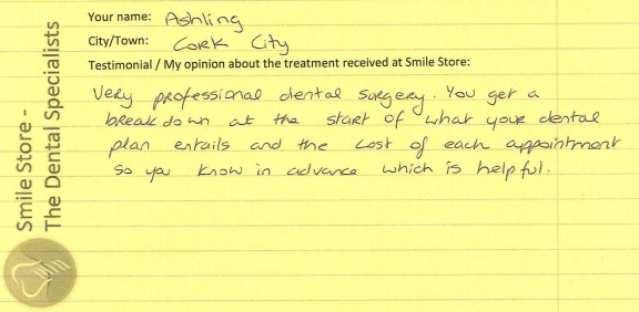 Ashling From Cork City Reviews Treatment at Smile Store