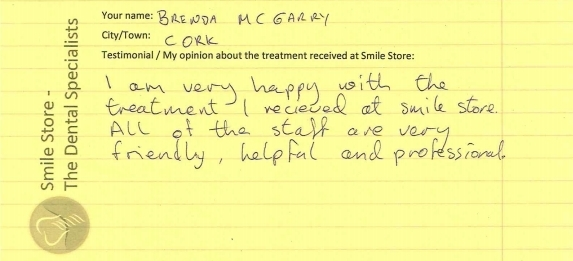 Brenda McGarry Reviews Smile Store
