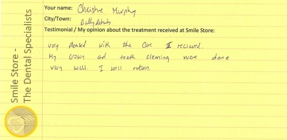 Christine Murphy Reviews Smile Store