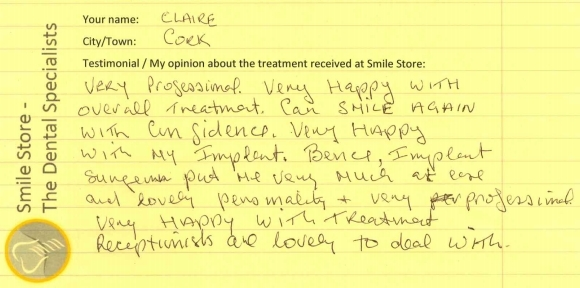 Claire Reviews Smile Store – The Dental Specialists