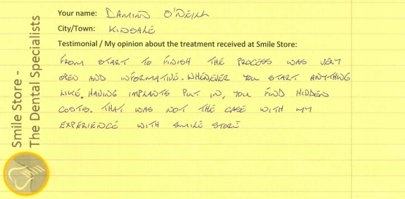 Damian O'Neill Reviews Smile Store