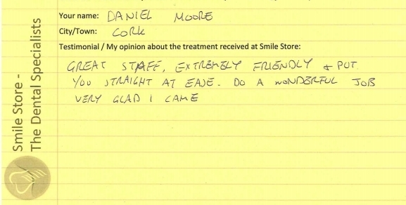 Daniel Moore Reviews Smile Store