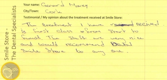Gerard Morey Reviews Smile Store