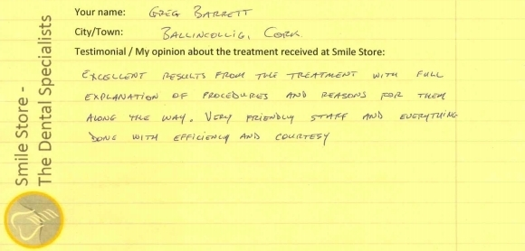 Greg Barrett Reviews Orthodontic Treatment at Smile Store