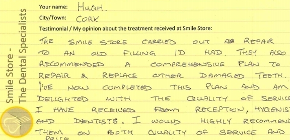 Hugh Reviews Dental Treatment at Smile Store