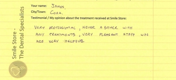 James from Cork City Reviews Smile Store – The Dental Specialists