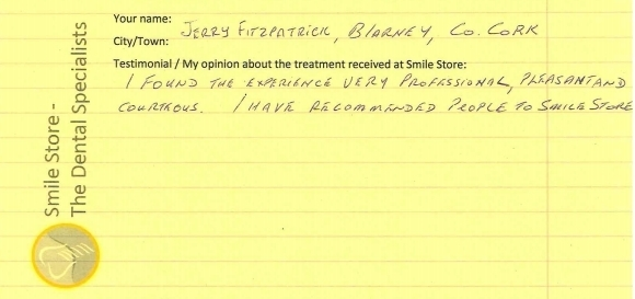 Jerry Fitzpatrick From Blarney Reviews Smile Store