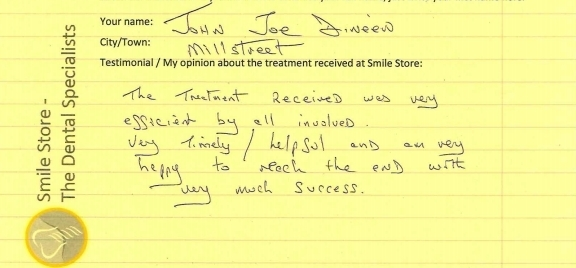 John Joe Reviews Treatment at Smile Store