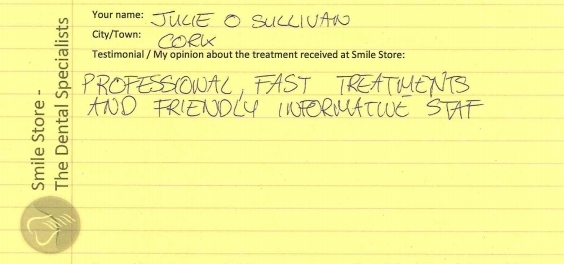 Julie O'Sullivan Reviews Smile Store