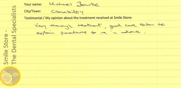Michael Burke Reviews Smile Store