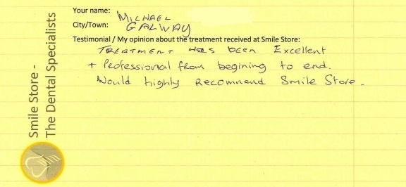 Michael from Galway Reviews Smile Store