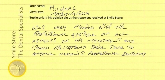 Michael from Toornafulla Reviews Smile Store