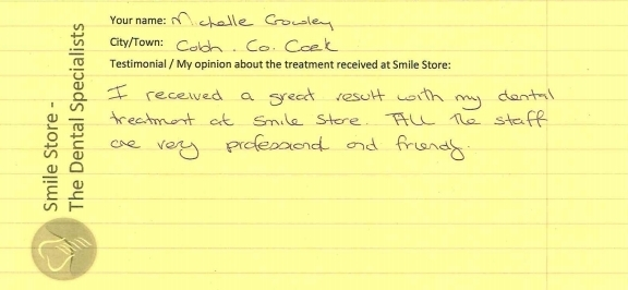 Michelle Crowley Reviews Smile Store
