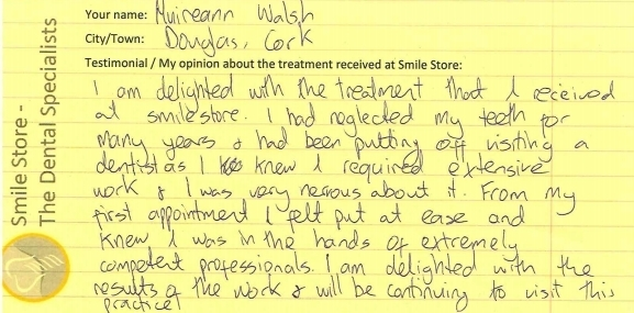 Muireann Walsh Reviews Smile Store