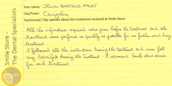 Olivier from Carrigaline Reviews Smile Store
