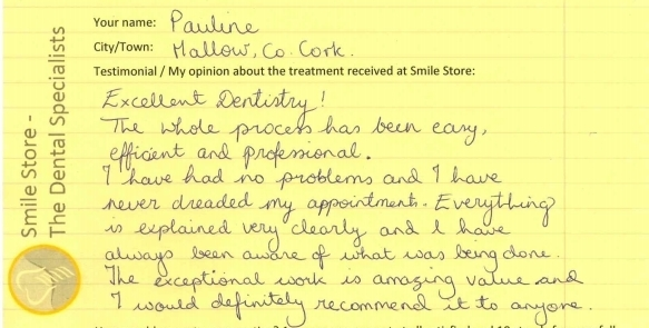 Pauline Reviews Smile Store Dentistry