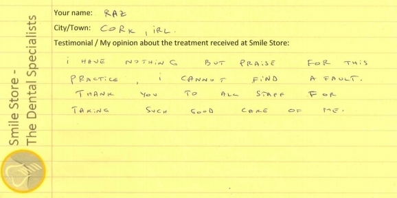 Raz from Cork Reviews Smile Store