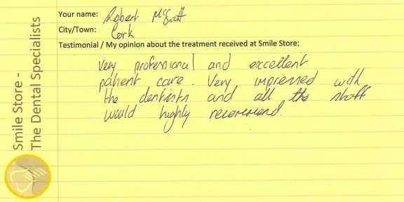 Robert McGrath Reviews Smile Store