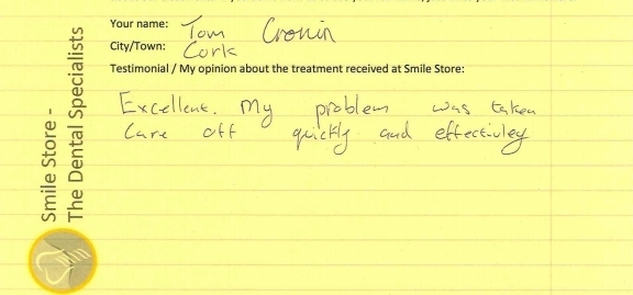 Tom Cronin Reviews Smile Store