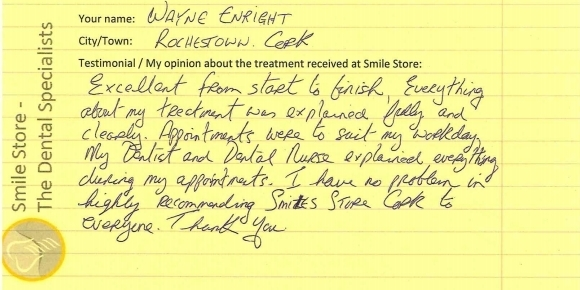 Wayne Enright Reviews Treatment at Smile Store