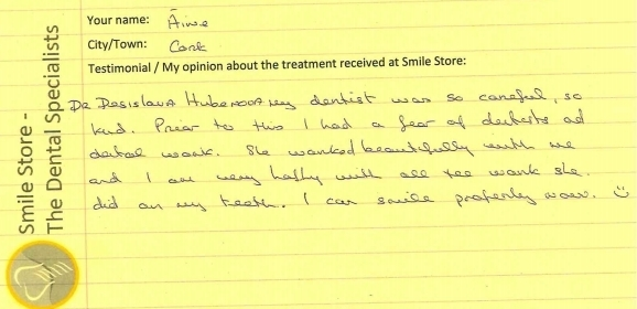 Aine Reviews Smile Store – The Dental Specialists