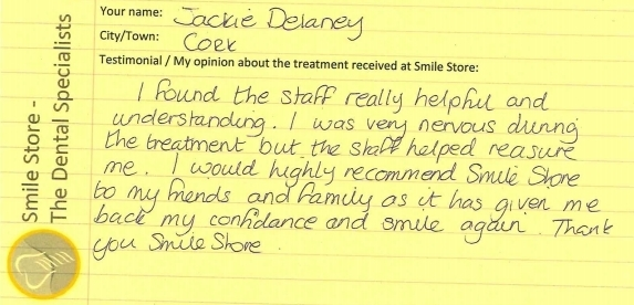 Jackie Delaney Reviews Smiles Store – The Dental Specialists
