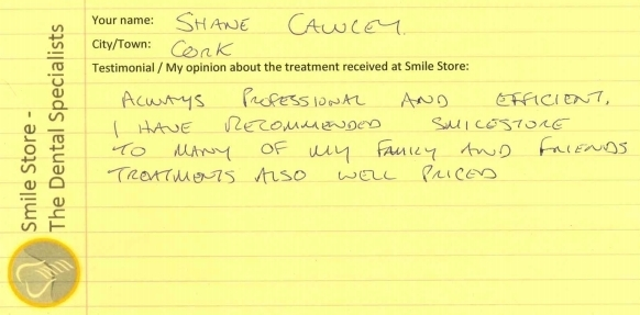 Shane Cawley Reviews Smile Store