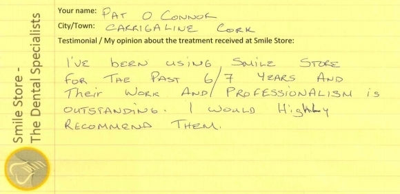 Pat O'Connor Reviews Smile Store