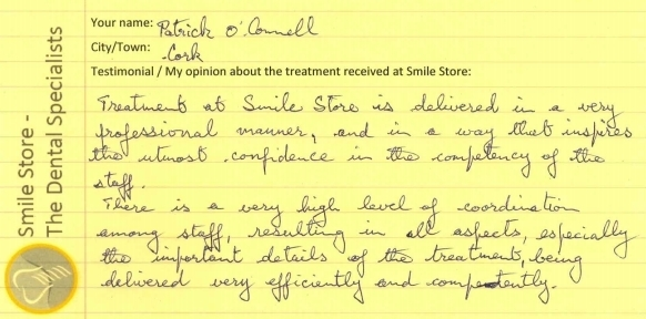 Patrick O'Connell Reviews Smile Store