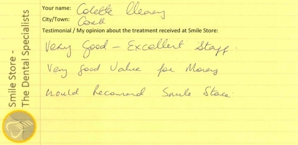 Colette Cleary Reviews Smile Store