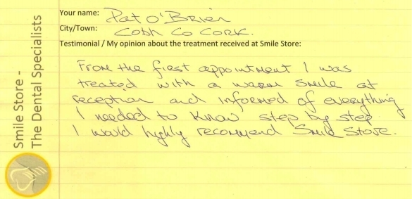 Pat O'Brien Reviews Smile Store
