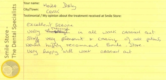 Moira Daly Reviews Smile Store