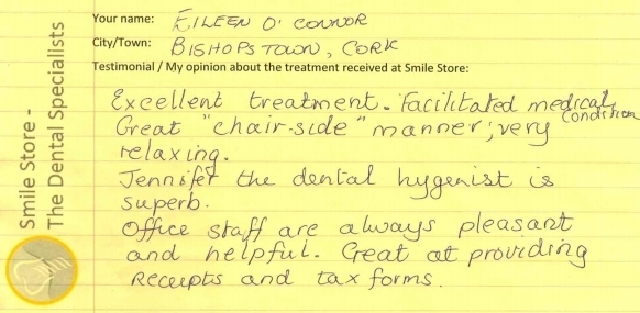 Eileen O'Connor Reviews Smile Store