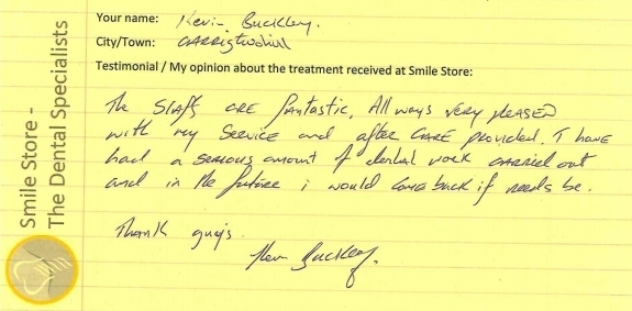 Kevin Buckley Reviews Smile Store