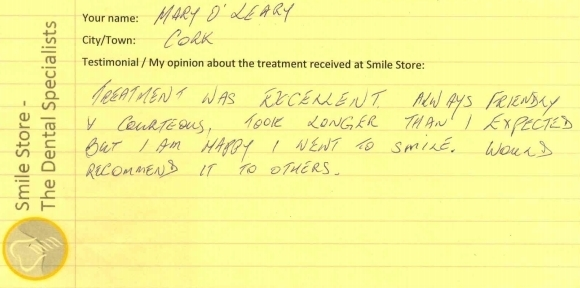 Mary O'Leary Reviews Smile Store