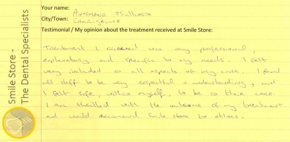 Annemarie O'Sullivan Reviews Smile Store