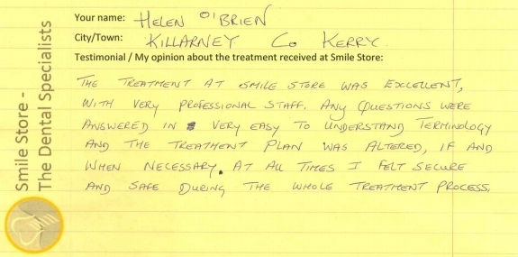 Helen O'Brien Reviews Smile Store