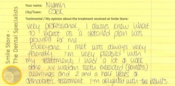 Niamh Reviews Smile Store