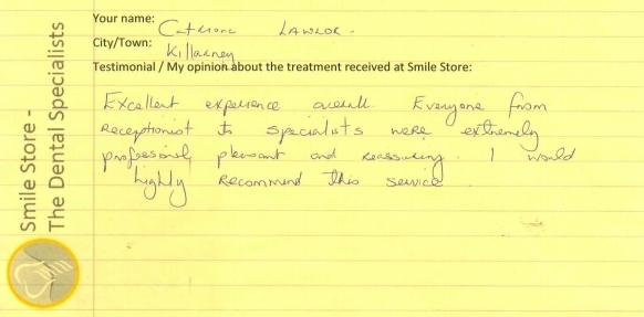 Catriona Lawlor Reviews Smile Store