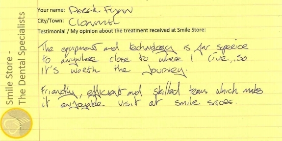Derek Flynn From Clonmel Reviews Smile Store