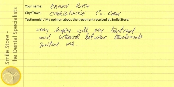 Eamon From Carrigaline Reviews Smile Store