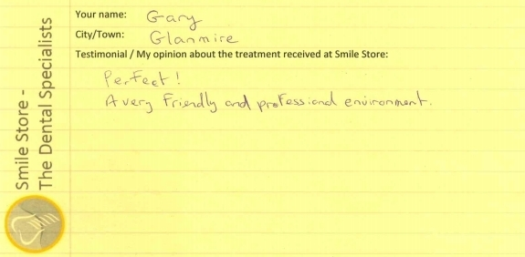 Gary From Glanmire Reviews Smile Store