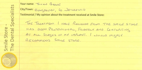 John Byrne Reviews Smile Store