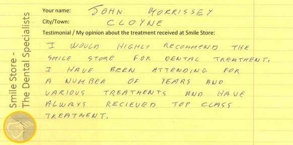 John Morrissey Reviews Smile Store
