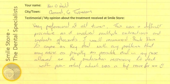 Ken O'Neill Reviews Smile Store