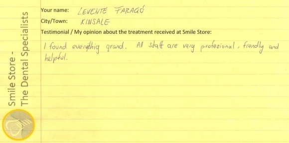 Levente Farago Reviews Smile Store – The Dental Specialists
